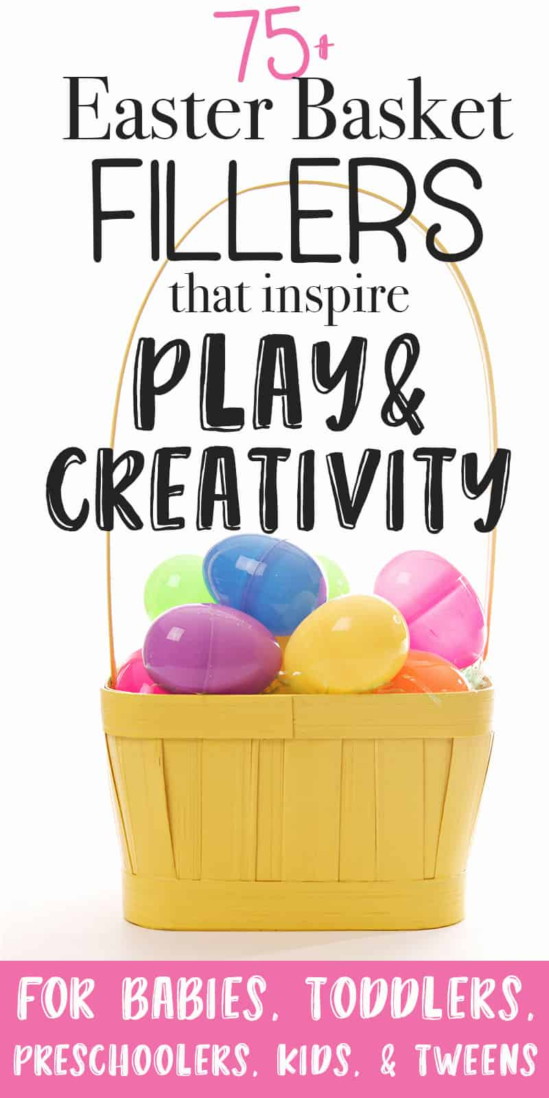 Easter basket fillers non-candy toys for kids that will encourage play and creativity.