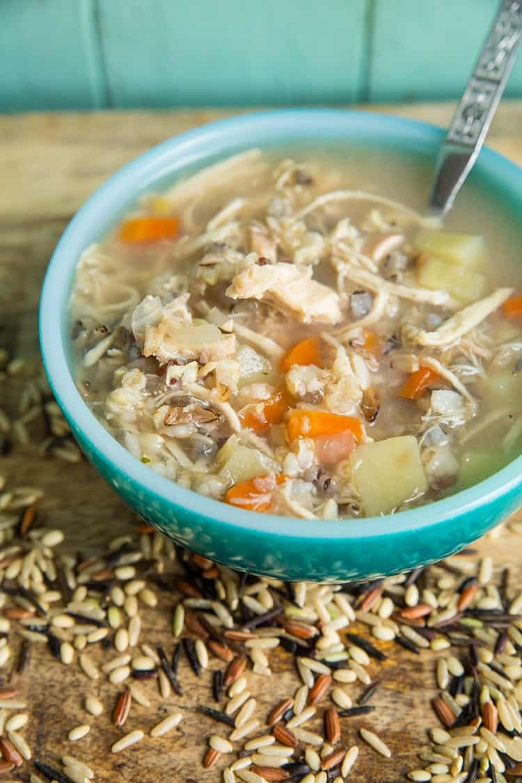 Instant Pot Dump Dinners: Chicken and wild rice recipe from The Kitchen Magpie