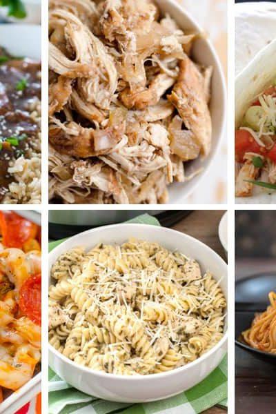 Instant Pot Dump and go dinner recipes for easy weeknight dinners.