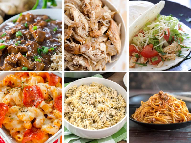 Instant Pot Dump recipes for easy weeknight dinners. See all 25 dump and go meals you can cook in your pressure cooker.