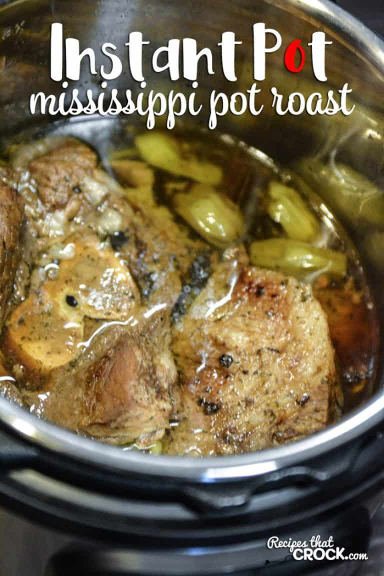 Instant Pot dump and go recipe: Mississippi pot roast from Recipes that Crock.
