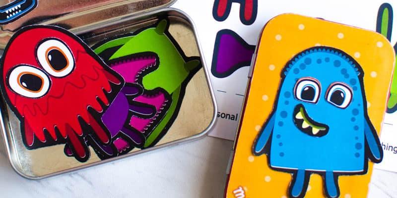 DIY Make-A-Monster Magnetic Travel Game for Kids