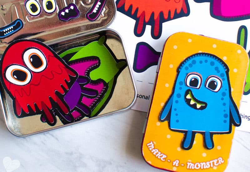 DIY Make-A-Monster Magnetic Travel Game for Kids