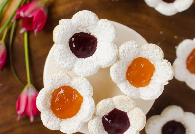 Jam-Filled Flower Sugar Cookies