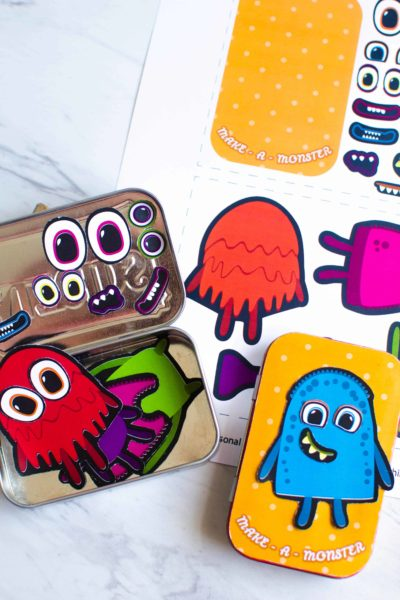 Make A Monster: DIY Magnetic Travel Game for Kids