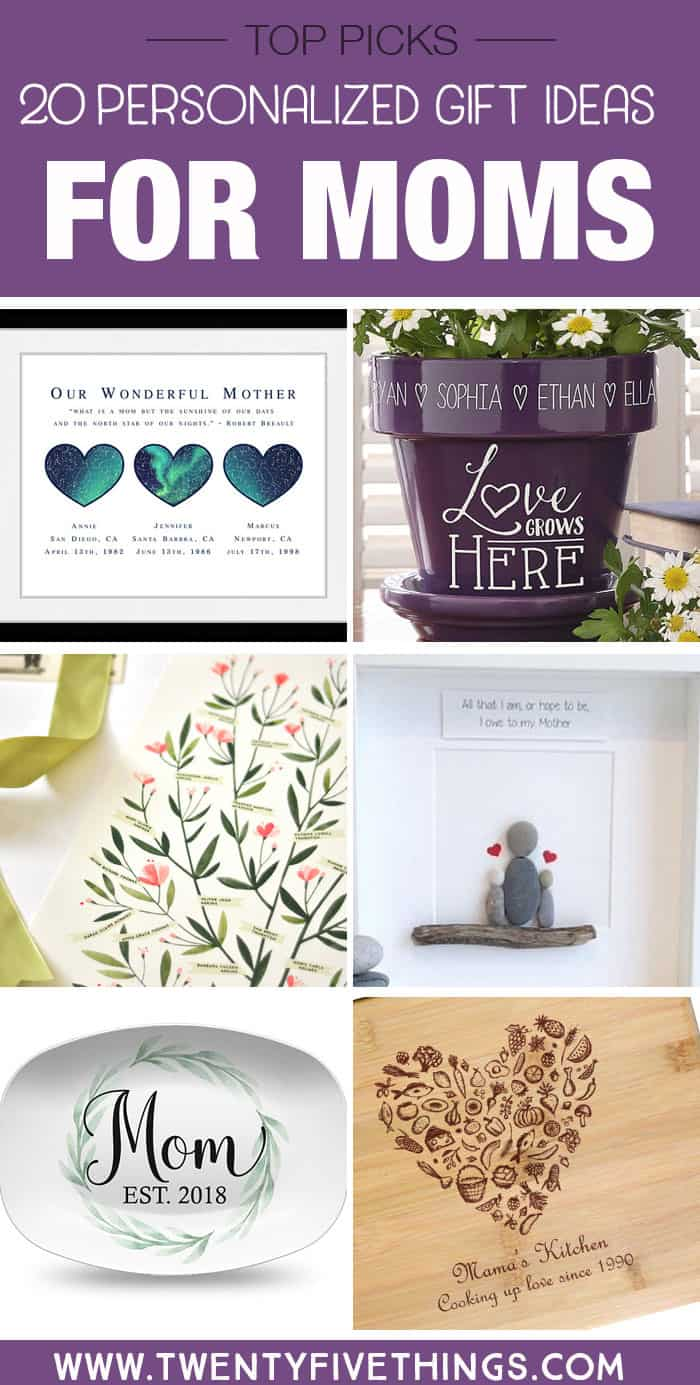 Give mom a truly special gift with one of these personalized gift ideas for mom.