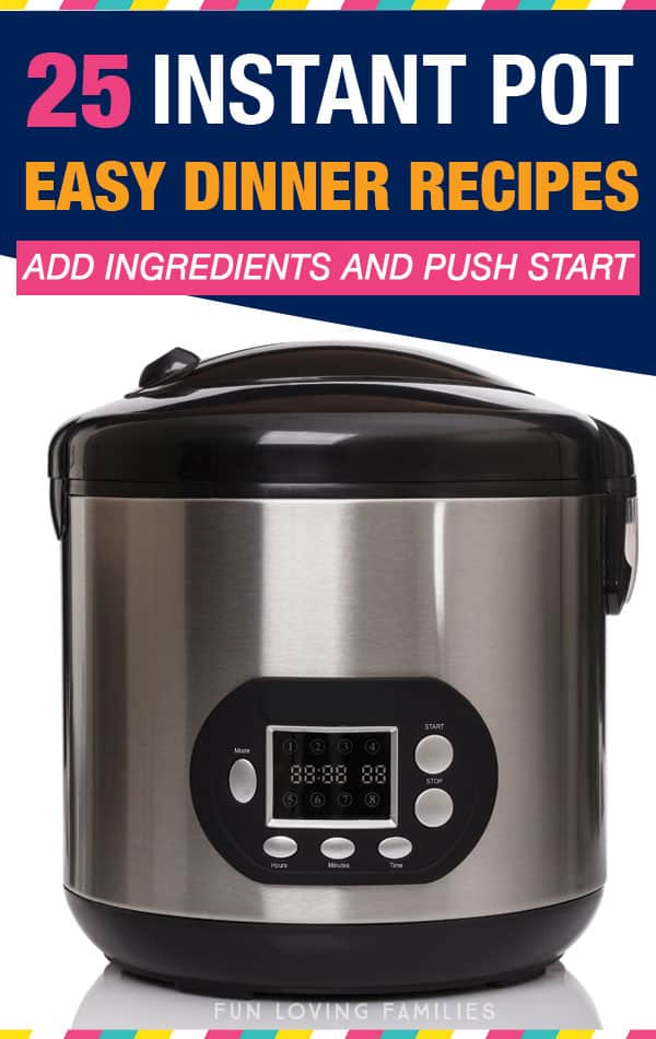 Use these Instant Pot easy dinner recipes for busy weeknights when you don't have time to cook for your family. All recipes are simple dump recipes, so you just add your ingredients and push start.