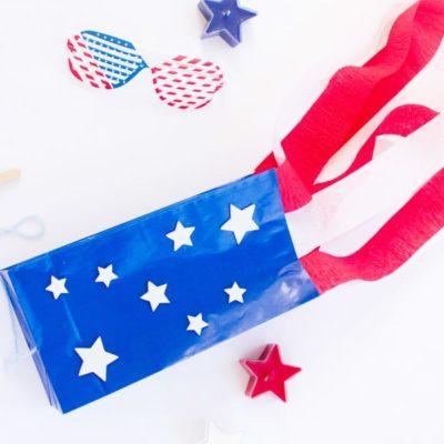 Flag Craft for Kids: Make a Stars-and-Stripes Paper Bag Kite