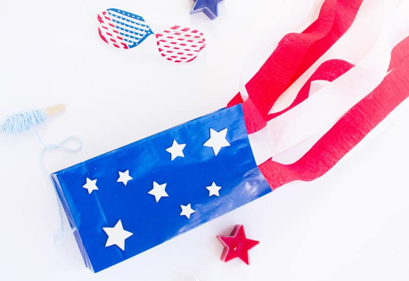 Flag Craft for Kids: Make a Stars-and-Stripes Paper Bag Kite
