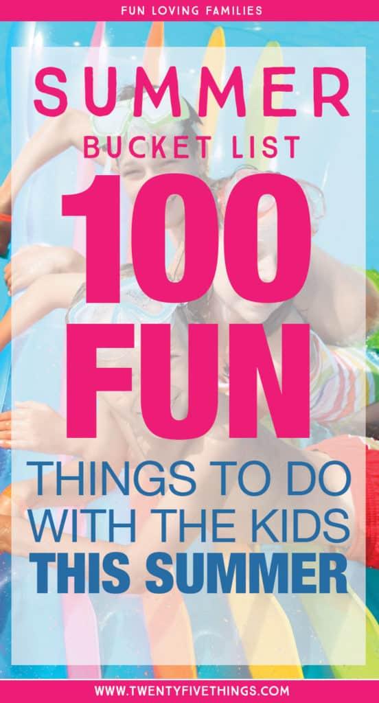 summer bucket list for families