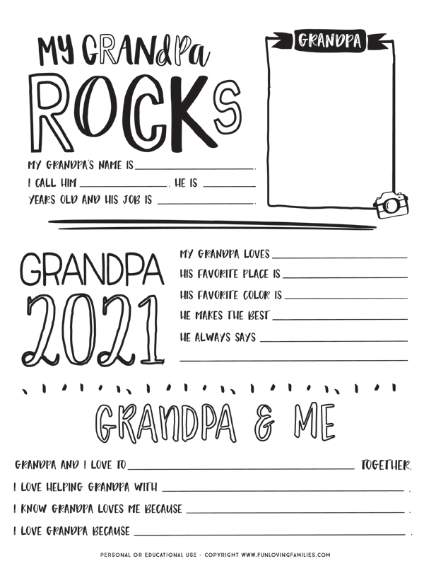 all about grandpa questionnaire