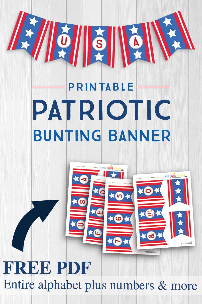 Use our free printable to create easy DIY patriotic decor.