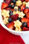 Make this gorgeous red, white, and blue fruit salad for your summer celebrations. The star shapes make it a perfect, simple recipe for Memorial Day or 4th of July.