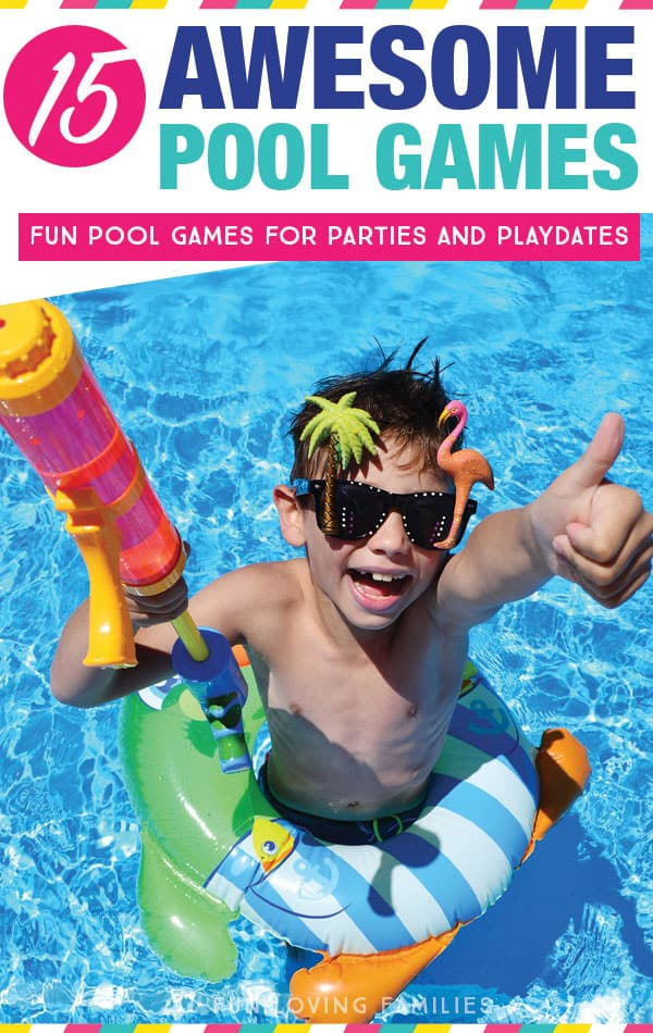 Play these pool games for kids at your next pool party or playdate for lots of laughs and fun memories. #pool #games #poolparty #summerfun