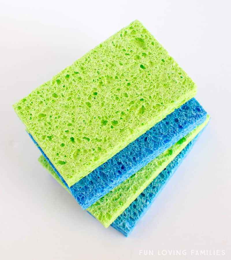 stack of sponges