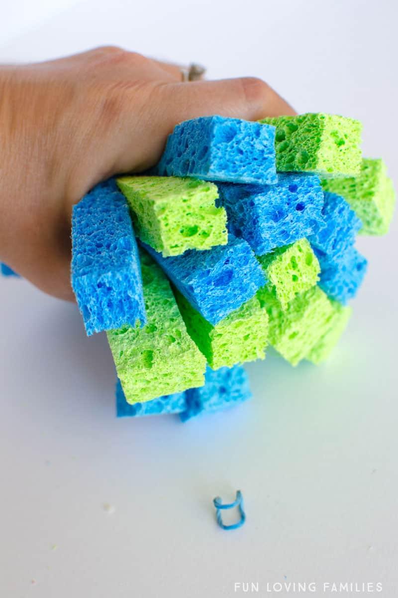 holding sponge strips together