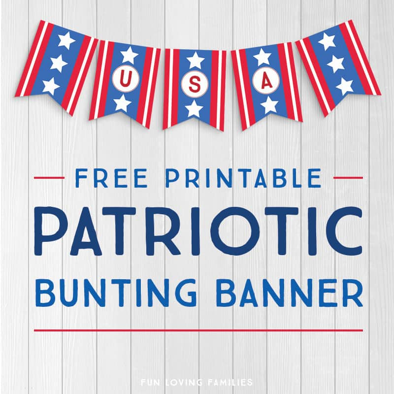 photo relating to Free Printable Patriotic Invitations titled Printable Patriotic Banner with Alphabet and Figures Absolutely free
