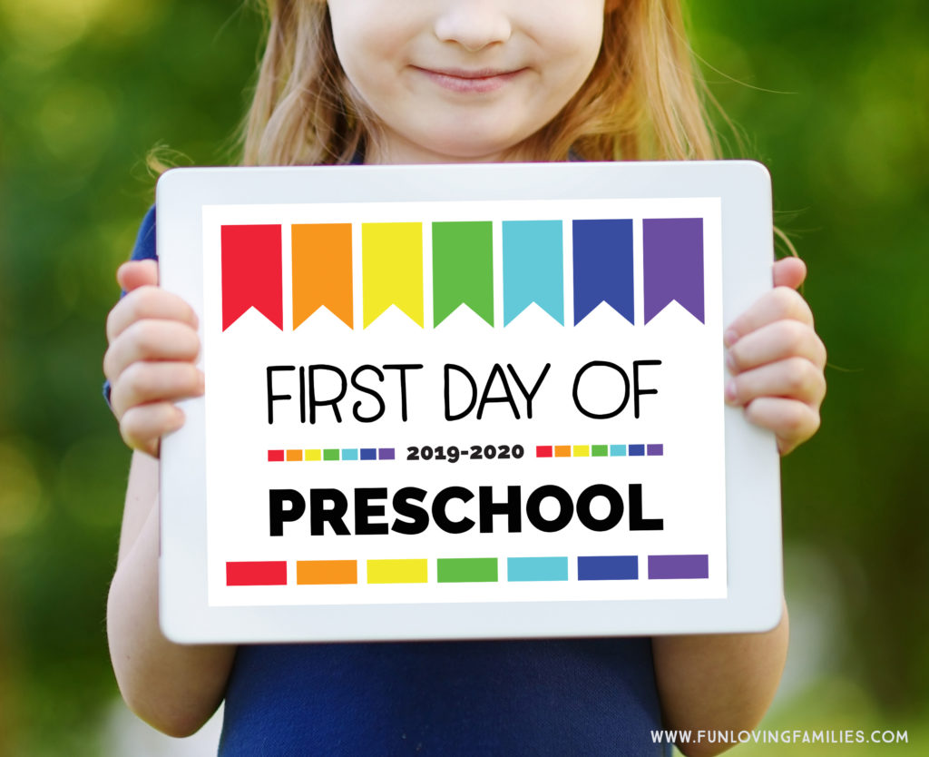 image about Last Day of Preschool Sign Printable referred to as Initial Working day of University Signs or symptoms: No cost Printables for All Grades