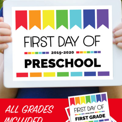 First Day of School Signs: Free Printables for All Grades