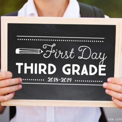 First Day of School Signs: Free Printables