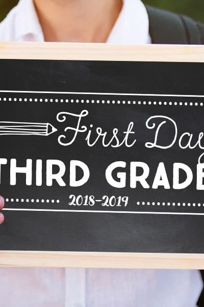 First day of school signs you can download and print at home!