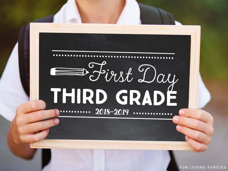 first day of school signs you can download and print at home