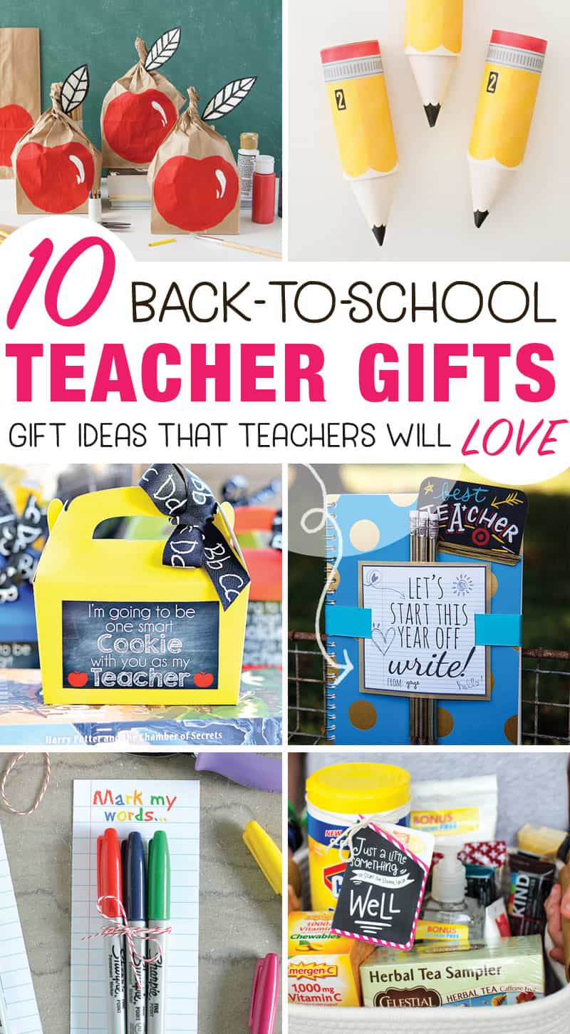 These back-to-school teacher gifts are perfect for the first day of school.