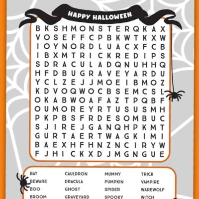Halloween Word Search Printables