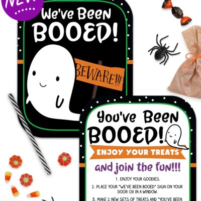 You've Been Booed Printable Signs – Super Cute and Totally FREE!