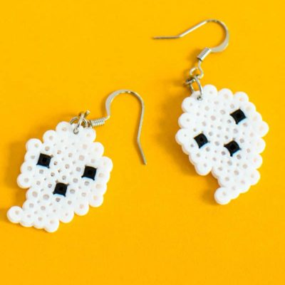 Easy DIY Halloween Perler Bead Earrings