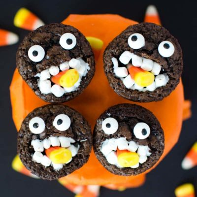 Halloween Brownies: Cute Candy Corn Brownie Monsters