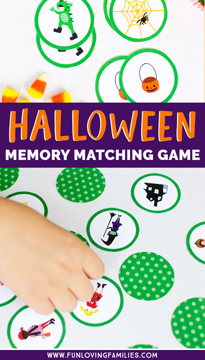 DIY Halloween memory matching game printable