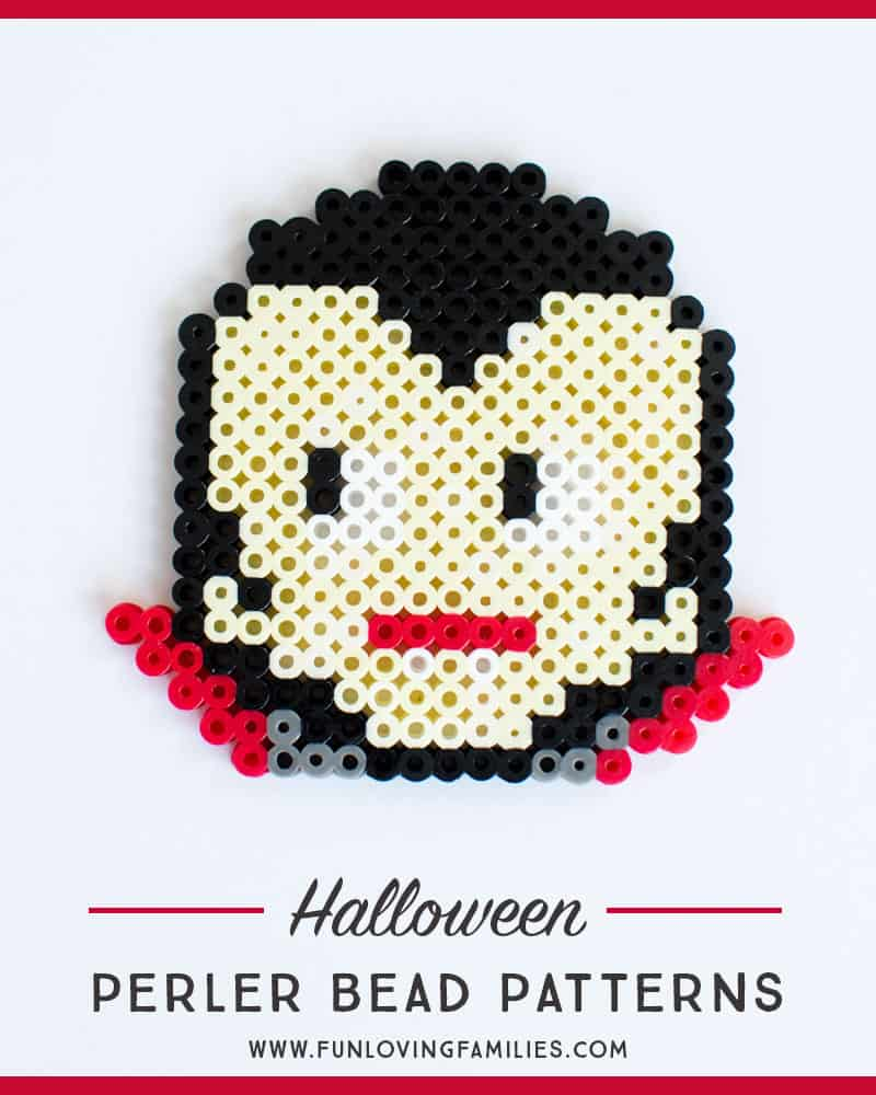 Dracula perler bead pattern
