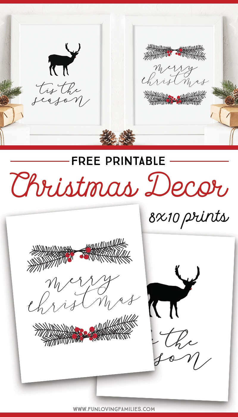 graphic about Free Printable Wall Decor identified as Absolutely free Printable Xmas Wall Artwork - Enjoyment Loving People