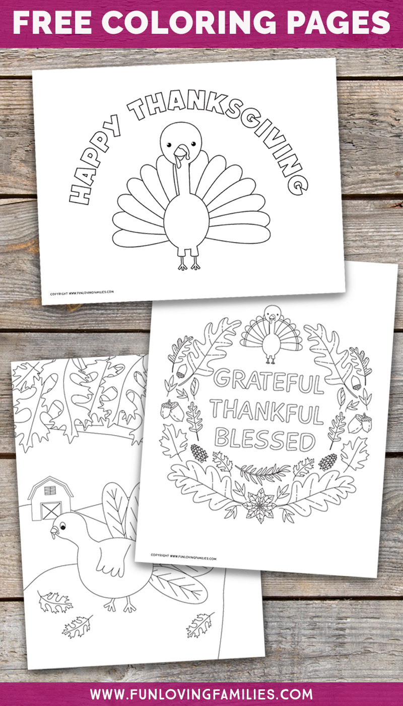 Free turkey coloring pages for Thanksgiving activities for kids. Kids and adults will enjoy coloring these adorable turkeys! #thanksgiving #coloringpages #coloringsheets #freeprintables #gratefulthanksfulblessed