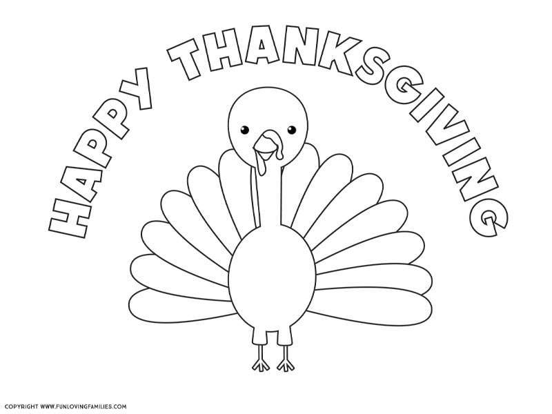 Turkey Coloring Pages that Everyone Will Love - Fun Loving ...