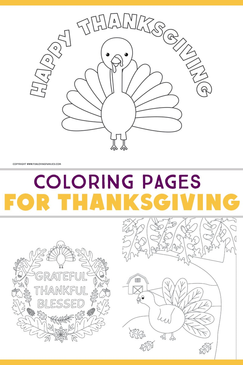 Free turkey coloring pages for Thanksgiving activities for kids. Kids and adults will enjoy coloring these adorable turkeys! #thanksgivingprintables #thanksgivingcoloring #thanksgivingactivities #freeprintables #gratefulthanksfulblessed #turkeys #turkeyprintables