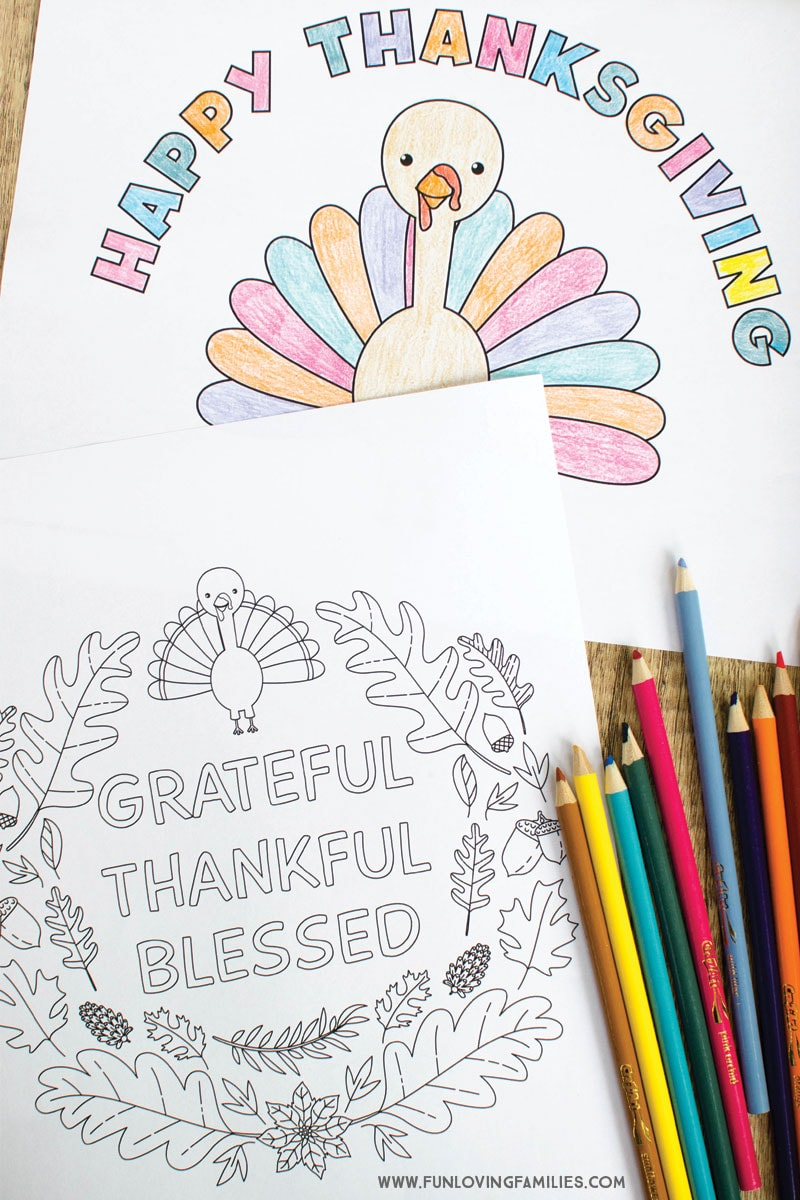 Grab these free printable turkey coloring pages for a fun Thanksgiving activity for kids. #thanksgiving #thanksgivingprintables #coloringpages #freecoloringpages #thanksgivingcoloringpages #thanksgivingactivities #coloringsheets #freeprintables #funlovingfamilies