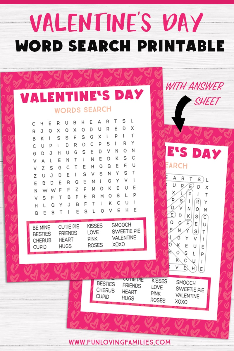 image about Valentine Day Word Search Printable referred to as Valentines Working day Term Glimpse - Pleasurable Loving Households