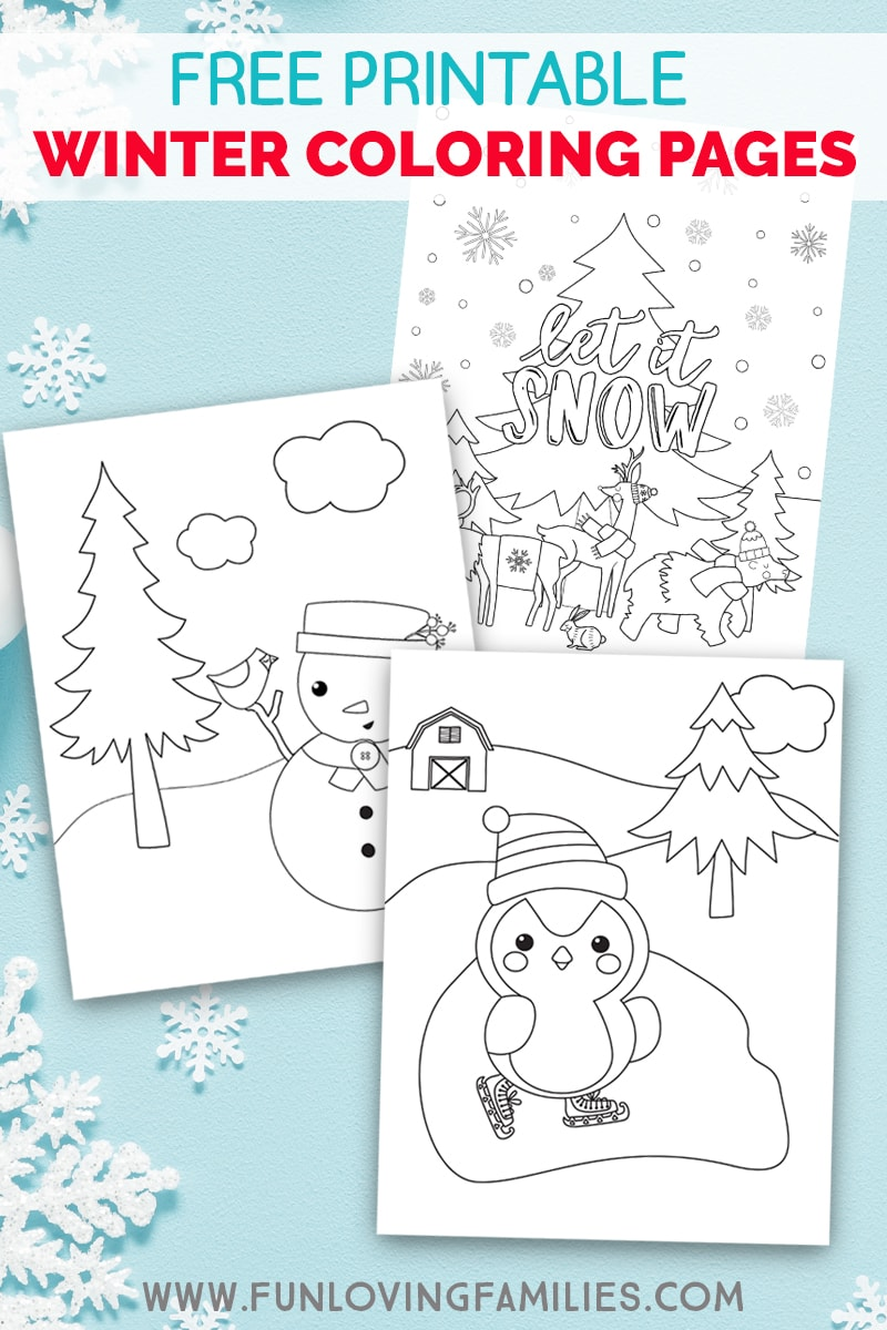 photo about Free Printable Winter Coloring Pages known as Wintertime Coloring Internet pages for Little ones - Exciting Loving Households