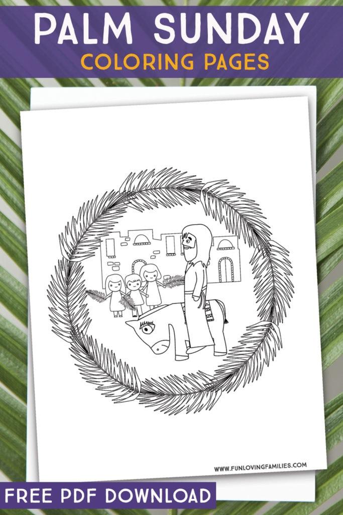 palm sunday Jesus and Donkey coloring sheet