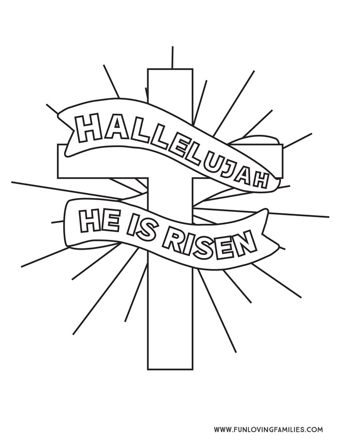 Religious Easter Coloring page free printable