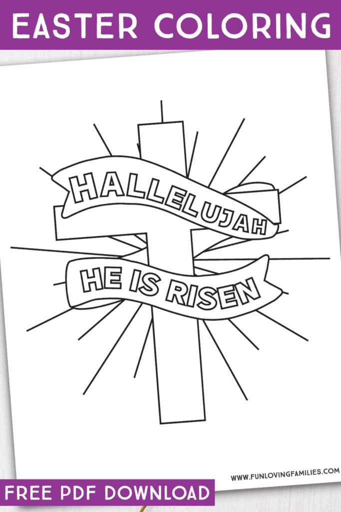 Free printable religious Easter coloring pages, perfect for Sunday School or home. #easter #easterprintables #eastercoloring #coloringpages
