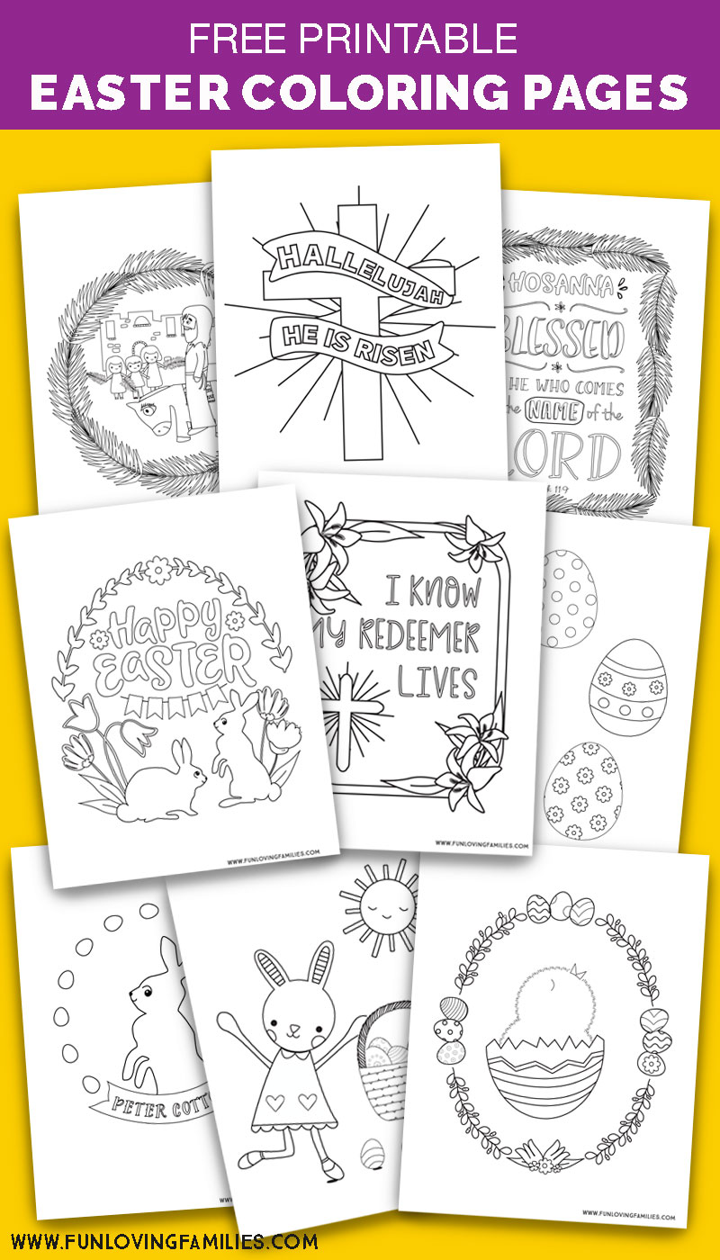 Cute Easter coloring pages with 9 free printables