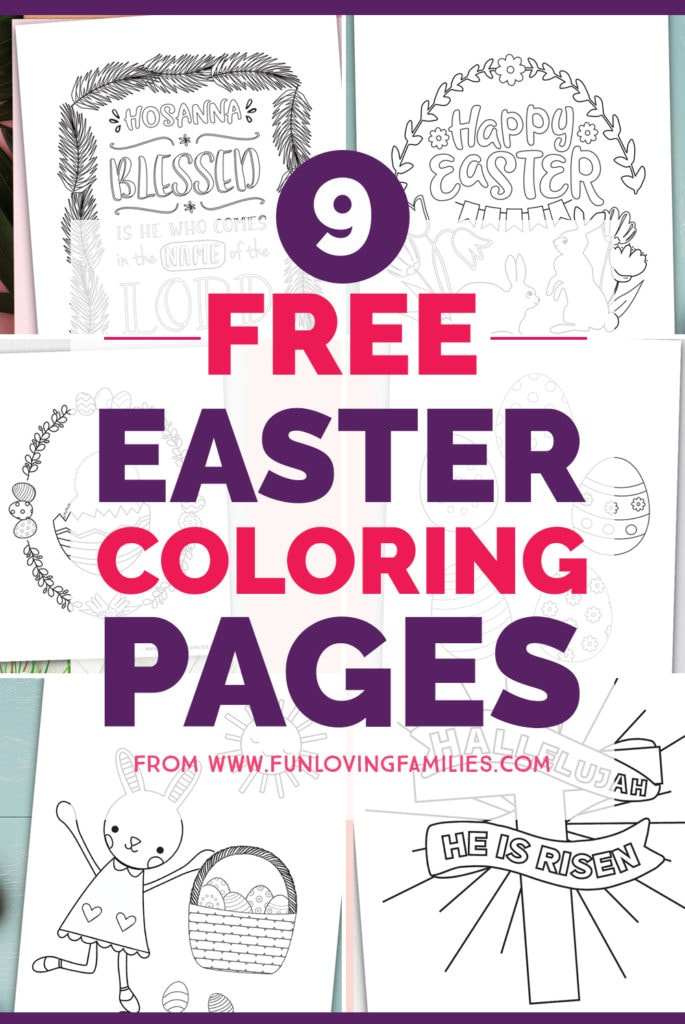 Grab all of the free printable Easter coloring pages for the kids. These are great to have on hand for an Easter brunch or for Sunday School during Easter and Palm Sunday. #Easter #freeprintables #easterprintables #easteractivities #coloringpages