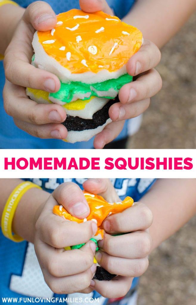 homemade hamburger squishy
