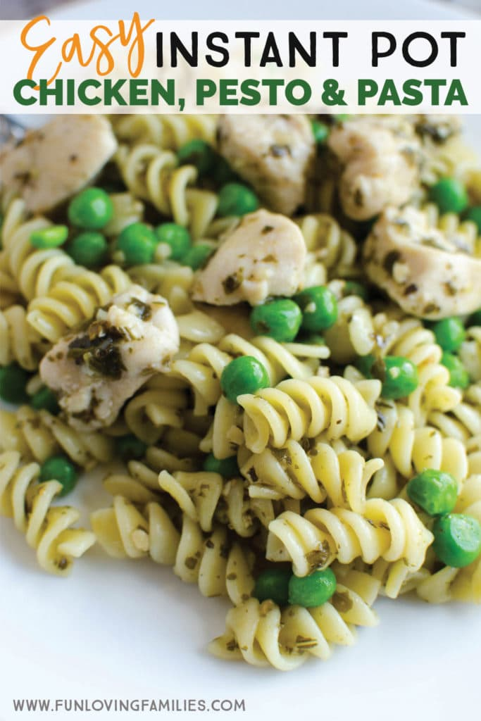 spiral pasta with chicken and pesto