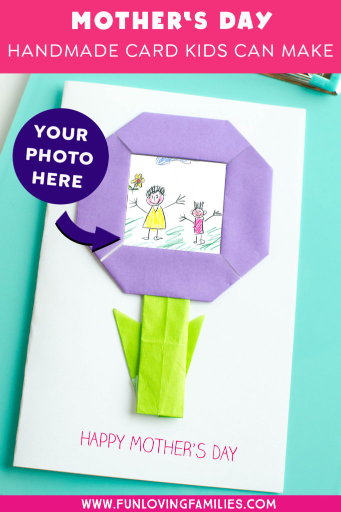 photo of handmade mothers day card from the kids