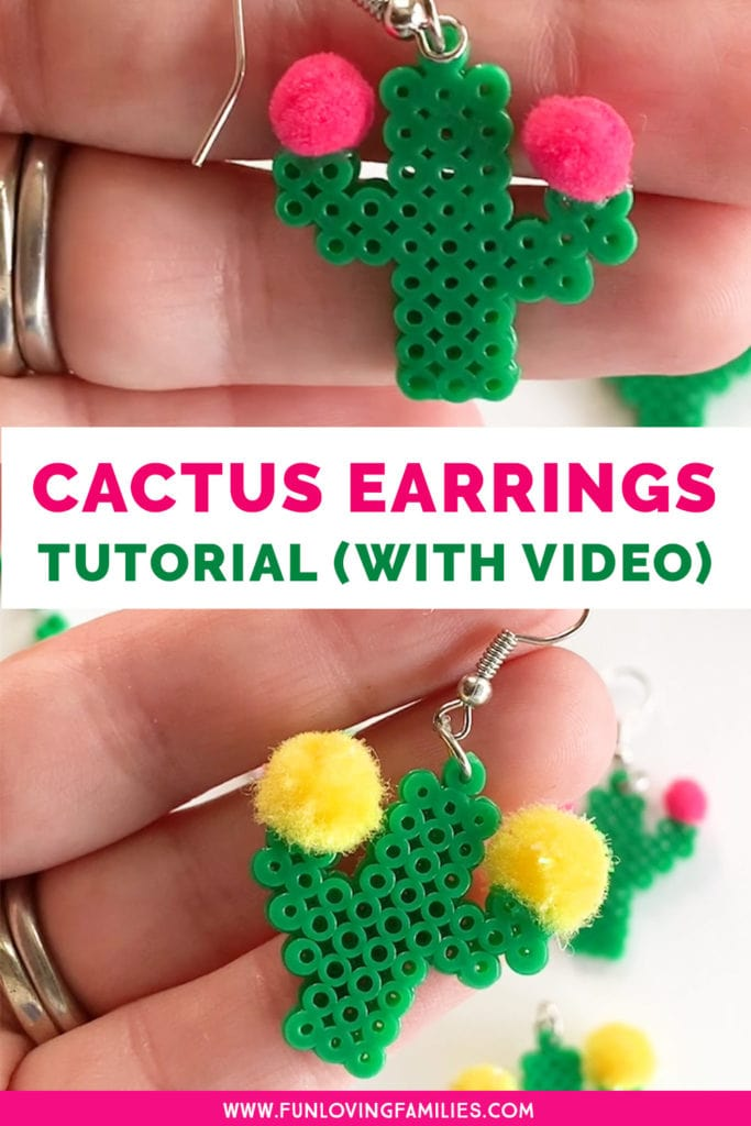 Cute DIY Cactus Earrings (with video tutorial) - Fun Loving