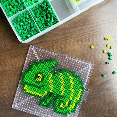 Chameleon Melty Bead Pattern (free)